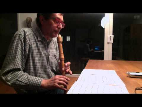 J. S. Bach, Prelude BWV 543 for recorder solo