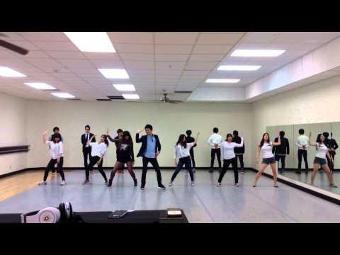 PSY-Gentleman dance practice at University of Nebraska, Kearney
