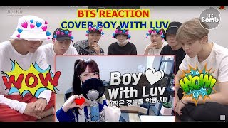 |BTS reaction| Boy With Luv - COVER by|SAESONG