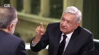 AMLO en entrevista con Rene Delgado. Reforma