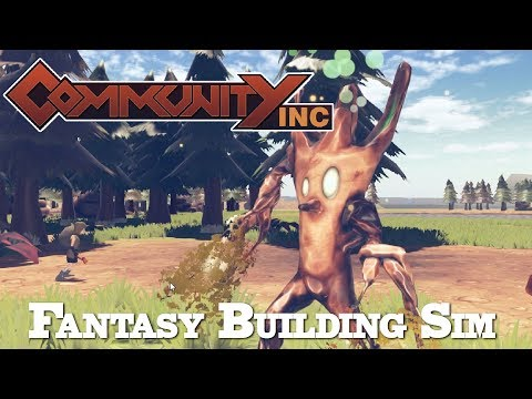 Community Inc. - Fantasy Town Building Sim (Community Inc Alpha Gameplay)