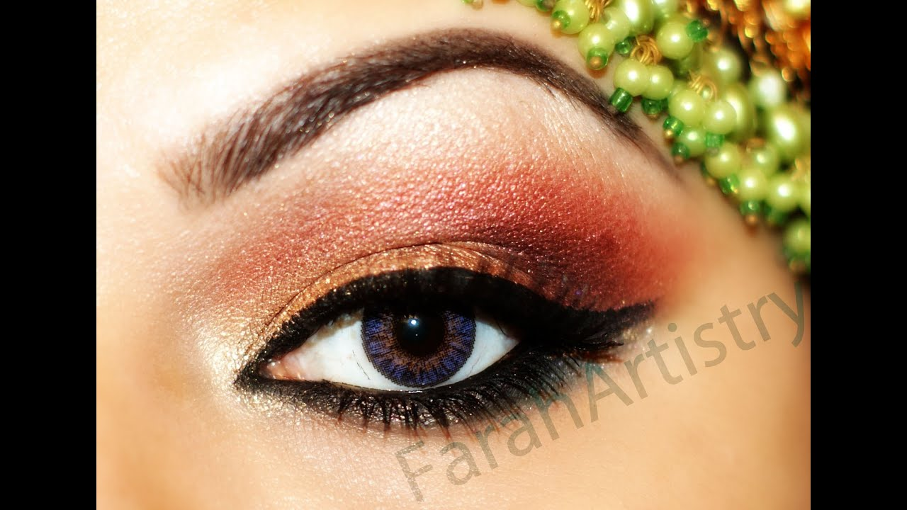 CLASSIC PAKISTANI INDIAN BRIDAL EYE MAKEUP - YouTube