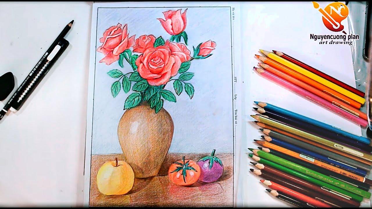 Hướng dẫn vẽ lọ hoa và quả/ Mĩ thuật  / nc planvẽ nghệ thuật   Khái quát những thông tin liên quan đến hình ảnh lọ hoa và quả chi tiết nhất