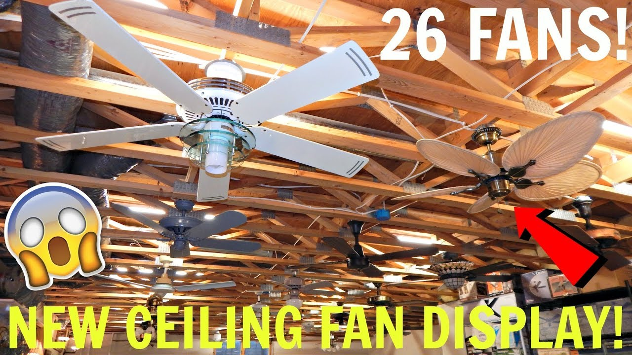 New ceiling fan display my biggest display ever youtube new ceiling fan display my biggest display ever aloadofball Images