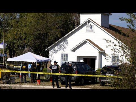 New video shows man after he shot Texas church gunman