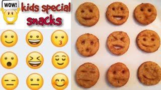 Kids Special Emoji fries | Easy Patry Starter | Snacks Recipe | Smiley fries | Potato fries