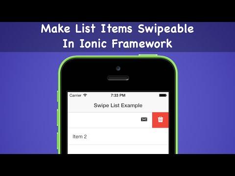 Make List Items Swipeable In Ionic Framework