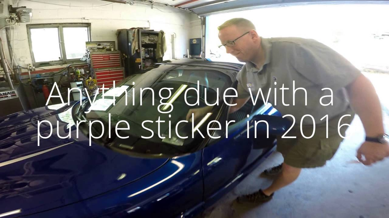 Nj Vehicle Inspection >> Nj Inspection Sticker 2016 Youtube