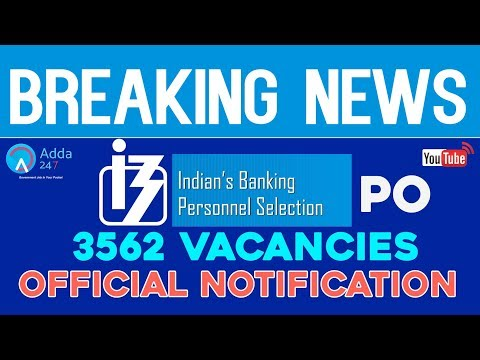 IBPS PO (Pattern Change) Official Recruitment Notification 2017