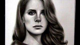 Time lapse drawing Lana Del Rey