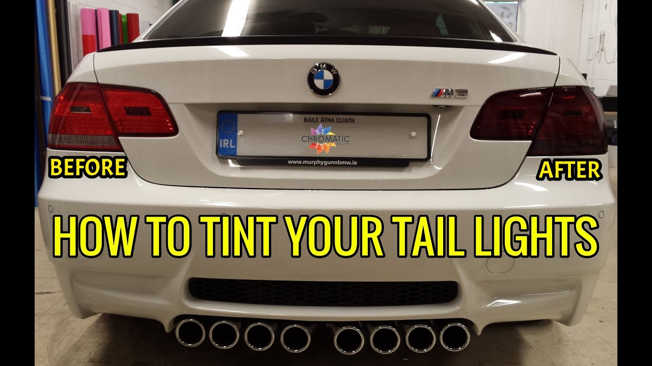How To Wrap Headlight Tail Light Tint Film Using