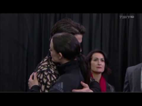 Tessa Virtue & Scott Moir - Cute moments-warm up pre SP- National Canadian Championships 2018