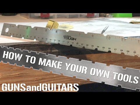 Make pro guitar luthier tools out of stuff you have (Guitar Hack #1)