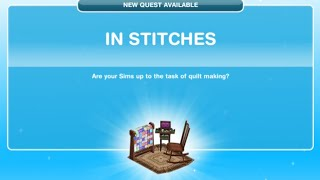 [The Sims Freeplay] - In Stitches Görevi