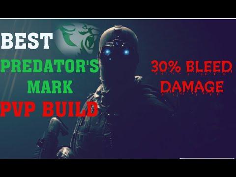 The Division 2 PREDATOR'S MARK PVP BUILD   MAX BLEED   FACE TANK AR BUILD   HUGE AR DAMAGE DPS BUILD