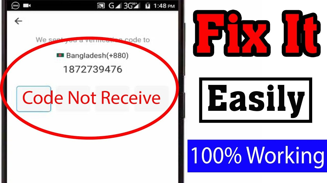 How To Fix Imo Verification Code Not Receive Problem