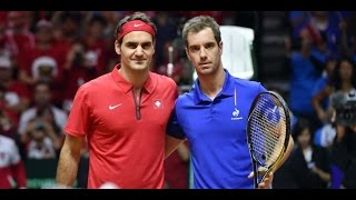 Roger Federer VS Richard Gasquet Highlight (Davis Cup) 2014 F