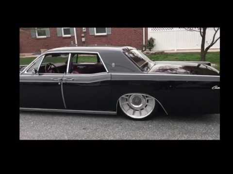 1967 Lincoln Continental Bagged On 22 Quot Accuair Youtube