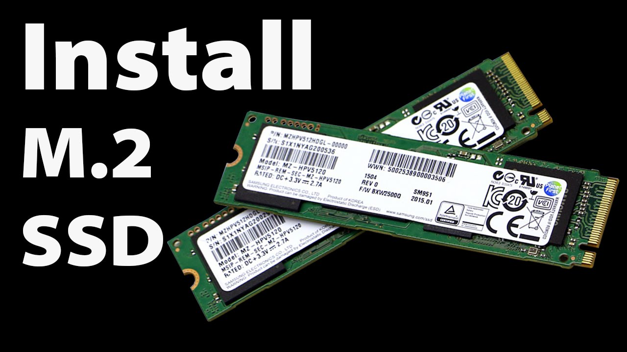 How to Install Windows on an M 2 SSD 960 Pro, 950 Pro, SM951