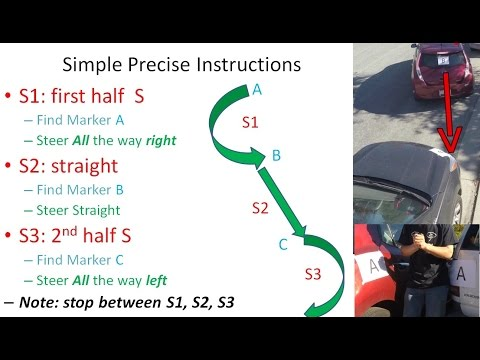 Easy 3-Step Parallel Parking With 3 Simple Markers -Optimal Solution Explained