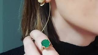 Bubble of Beauty jewelry - Handmade gold plated silver 925 earrings