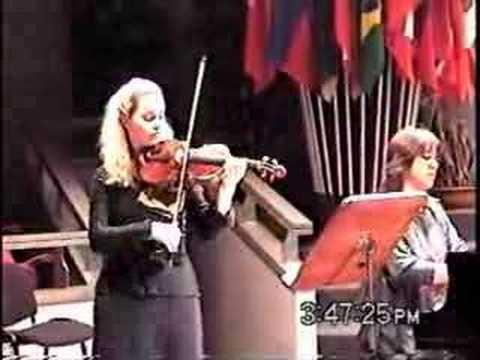 Mozart Violin Sonata B flat K454 1st mvt - Rosalie Macmillan