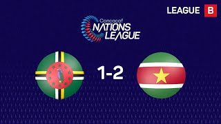 Highlights #CNL: Dominica 1 - 2 Suriname