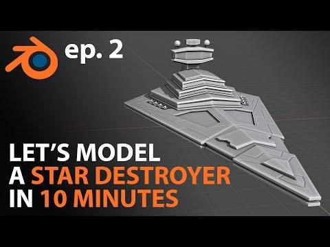 Creating a STAR DESTROYER in 10 MINUTES | Blender 2.81 / 2.8