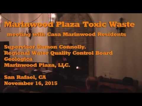 Toxic Waste Clean up Marinwood Plaza 11/16/2015