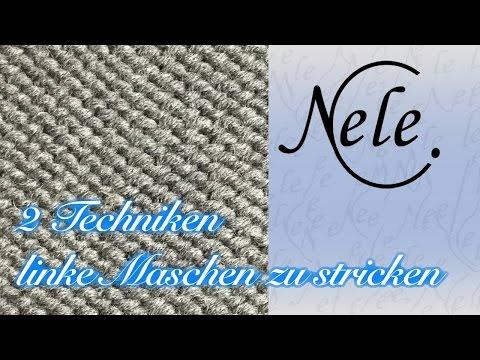 Stricken Lernen Für Anfänger, Anleitung Linke Maschen Stricken, 2 Techniken, By Nele C.