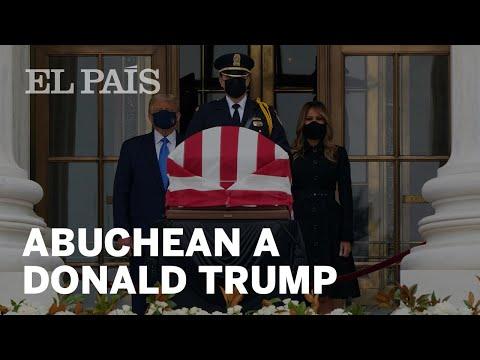 #EEUU   Abuchean a Donald Trump en velatorio de Ruth Bader Ginsburg
