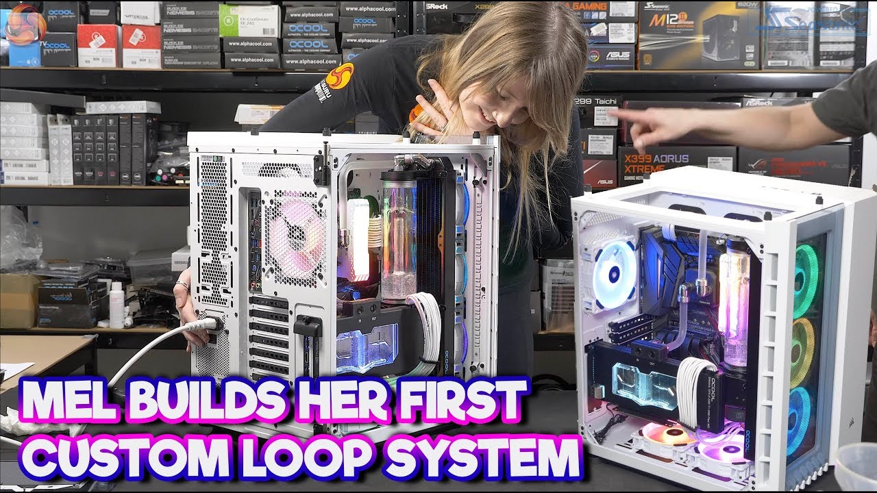 9ecda9e2356 FIRST CUSTOM LOOP GAMING PC Build - LEO teaches MELISSA! - YouTube