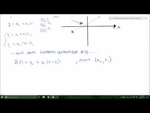 Newtons Linear Interpolation Method - Derivation and Example (Applied  Numerical Analysis)