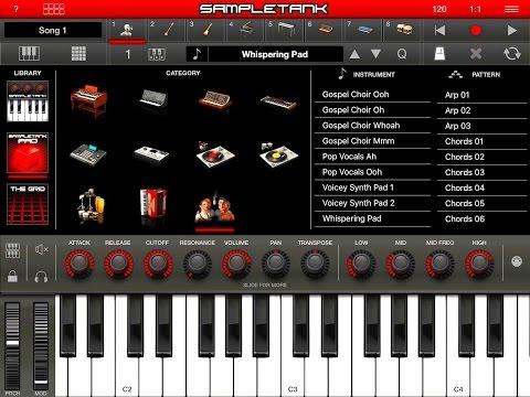 Sampletank 2 Huge Update for iPad, PRO Pack, The BIG Soundtest
