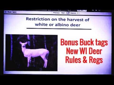 Wisconsin Spring Hearing... New Deer Hunting Regulations.