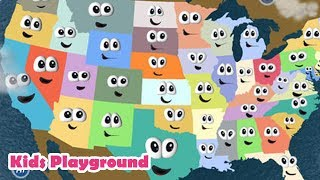 Stack the States® 2 - Freecloud Design - Game for Kids -Learn states Shapes