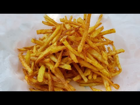 Kurkure Aloo Fry Recipe | Crispy Potato Fry Recipe by Mubashir Saddique | Village Food Secrets
