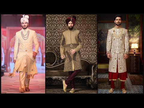 Wedding sherwani designs/Dulha sherwani/Partywear Sherwani design/Sherwani/Indowestern for men- FSHC