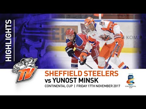 Yunost Minsk v Sheffield Steelers - Continental Cup - 17th November 2017