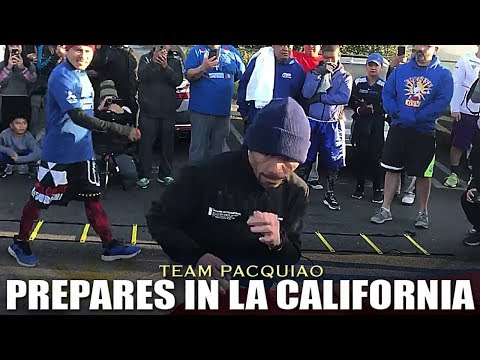 TEAM PACQUIAO NOW IN LOS ANGELES FOR THEIR FINAL PREPARATION AGAINST BRONER