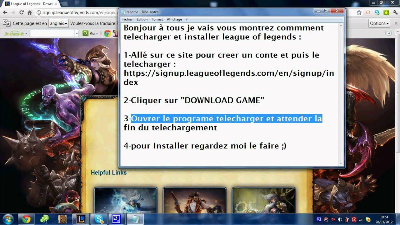 League of legend télécharger le nouveau client
