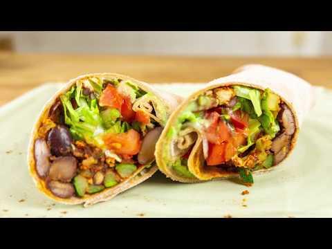 Wrap Rezept: Mexikanische Füllung  vegan | Der Bio Koch