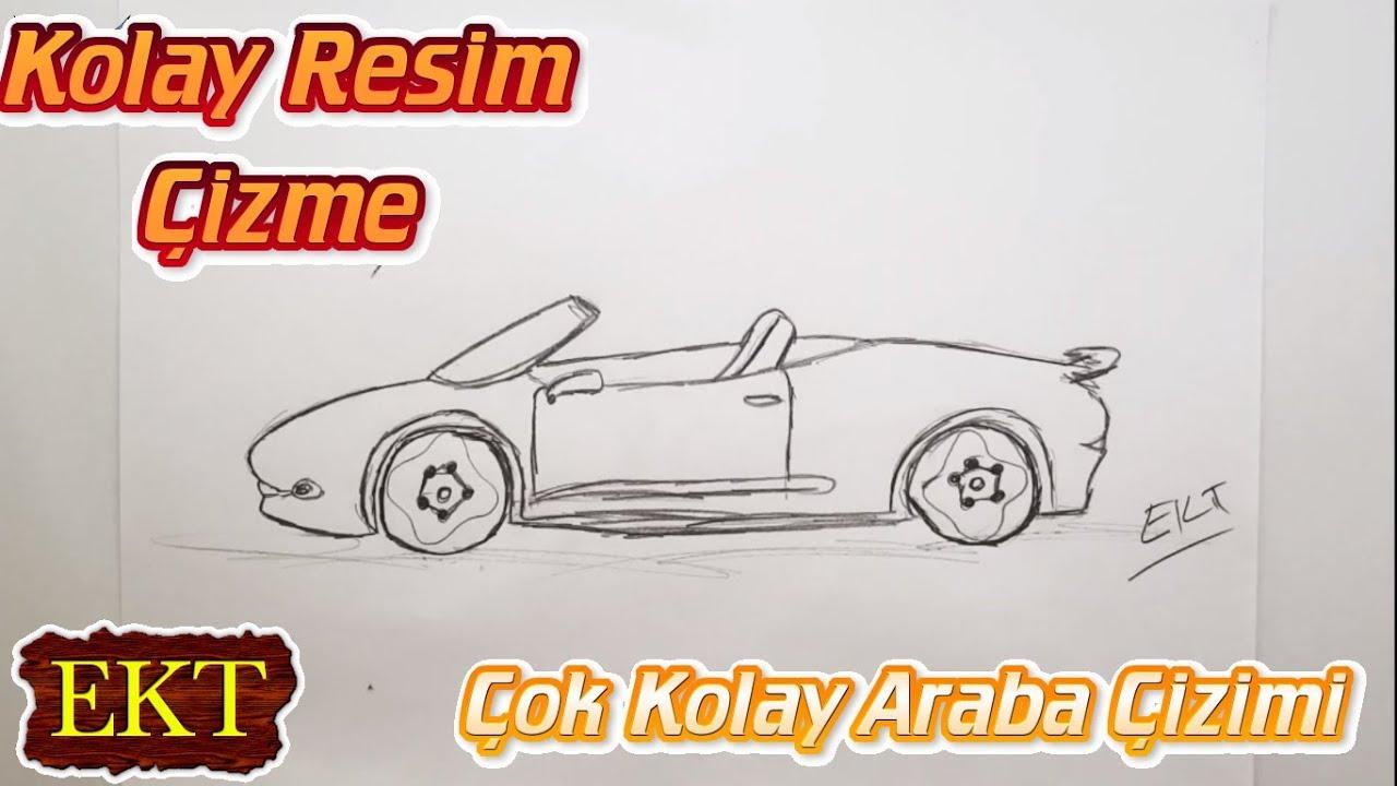 Cok Kolay Ustu Acik Araba Cizimi Youtube