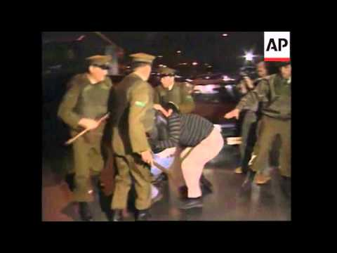 CHILE: SANTIAGO: RIOT POLICE CLASH WITH PROTESTERS SUPPORTING MRTA