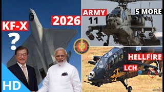 Indian Defence Updates : India-Korea KF-X Possible,Hell-Fire On LCH,5 More Apache Order,OFB Reforms