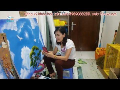 Nhật Ký Ngày thứ nhất, K7. khóa học vẽ tranh tường do trung tâm Mỹ Thuật Việt tổ chức