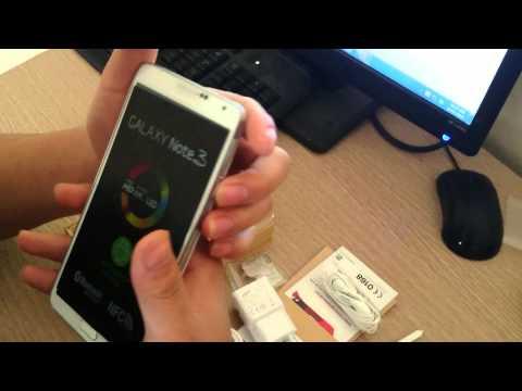 Video phân biệt Galaxy Note3 hàng xịn và hàng từ Móng Cái chuyển về