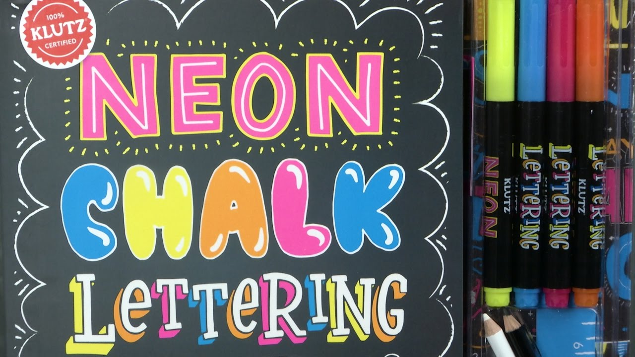 neon chalk lettering from klutz youtube