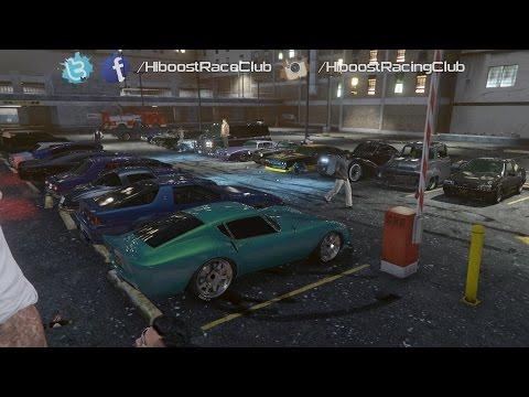 Grand Theft Auto V Online (XB1)   Classic Car Meet   Turbo Ruiner, LS River Drags & More