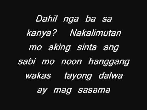 Dahil ba sa kanya  jaya with lyrics